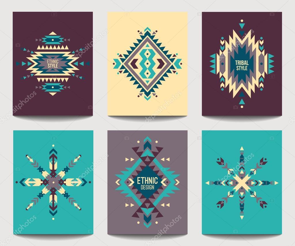 Conjunto de vector de volantes coloridos abstractos geométricos ...