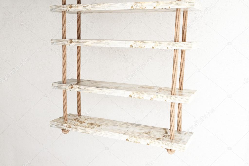 Zwevende Plank Muur.Zwevende Planken Kant Stockfoto C Peshkov 105057496