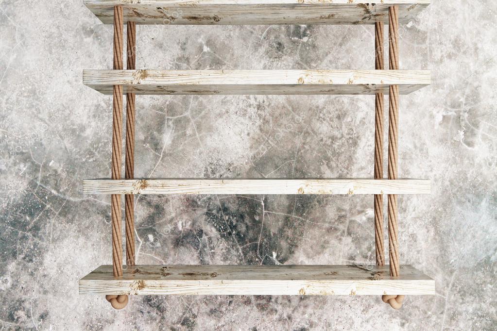 Wandplanken Van Beton : Zwevende planken getextureerde beton u2014 stockfoto © peshkov #106710348