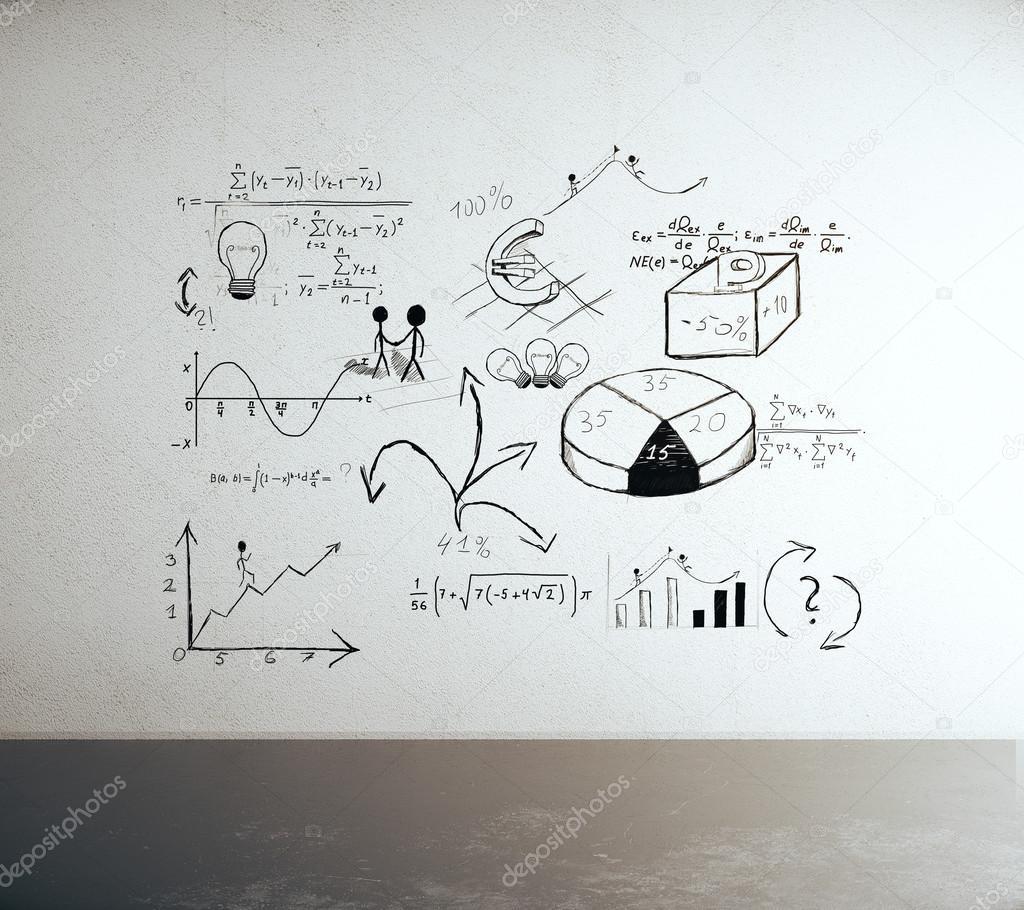 Geschäft Skizze auf Wand — Stockfoto © peshkov #108862960