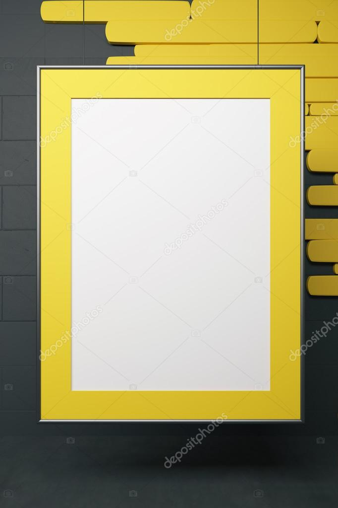 Gelbe Bilderrahmen — Stockfoto © peshkov #112309434