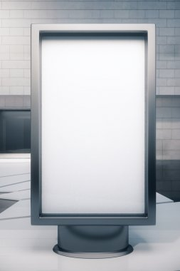 Blank ad stand