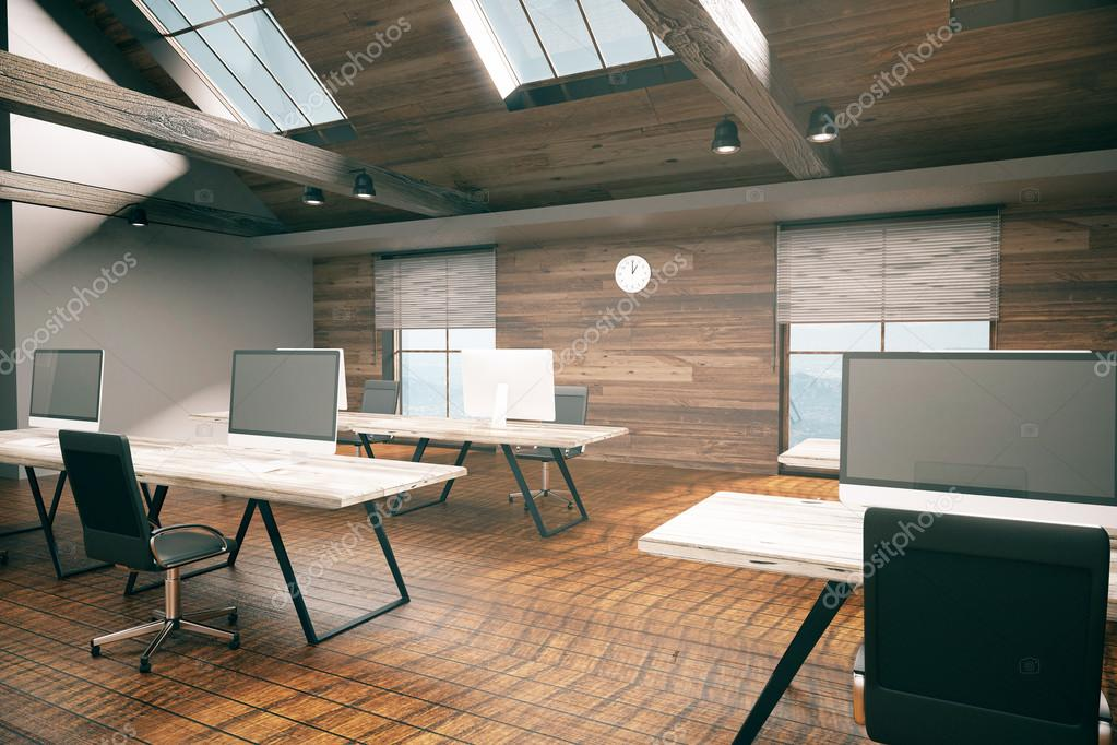 Country Style Office Interior U2014 Stock Photo