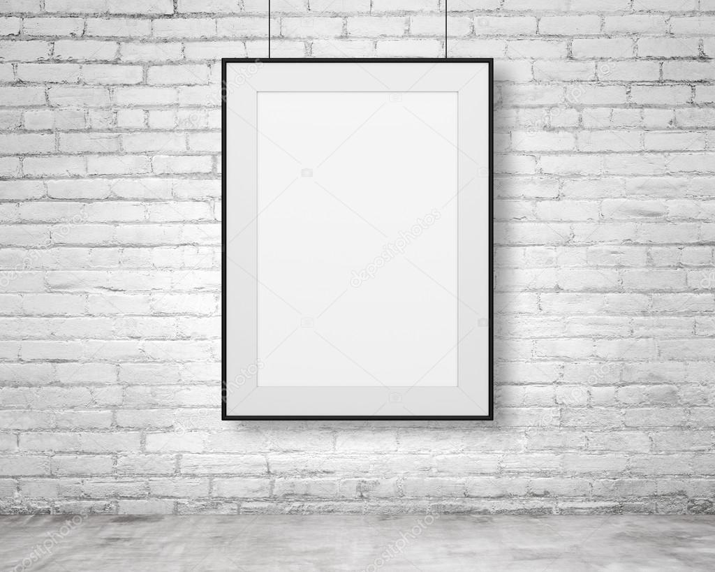 Blank frame hanging — Stock Photo © peshkov #66850295