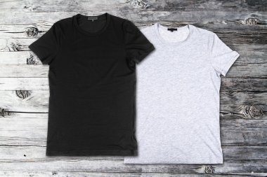 Blank black and gray t-shirts