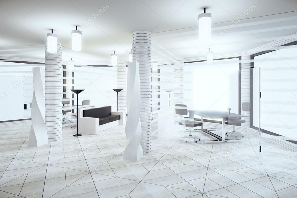 Colori Ufficio Moderno : Ufficio moderno loft luce nei colori bianco con le finestre in