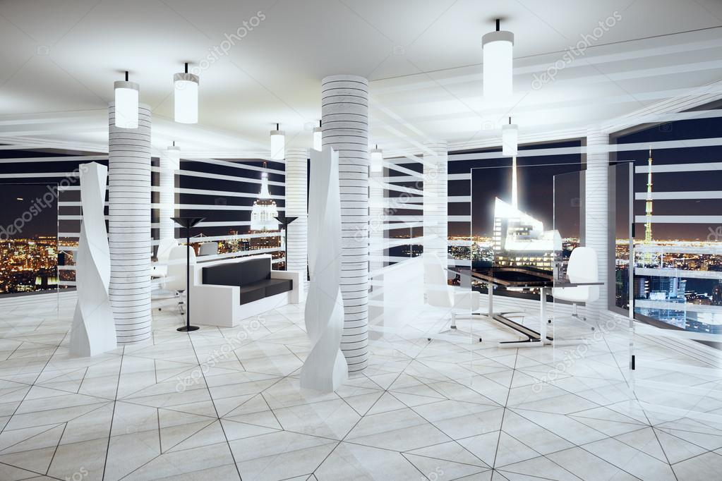Ufficio Stile Moderno : Ufficio stile moderno futurismo con windows in piano e notte cit