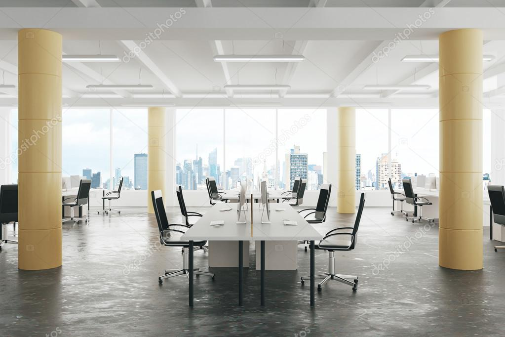 Large modern office with open space to work stock photo picture