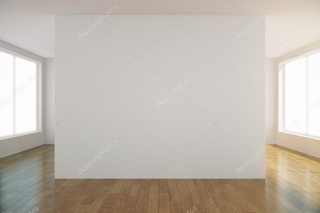 Sala De Luz Vazia Com Parede Branca Em Branco No Centro