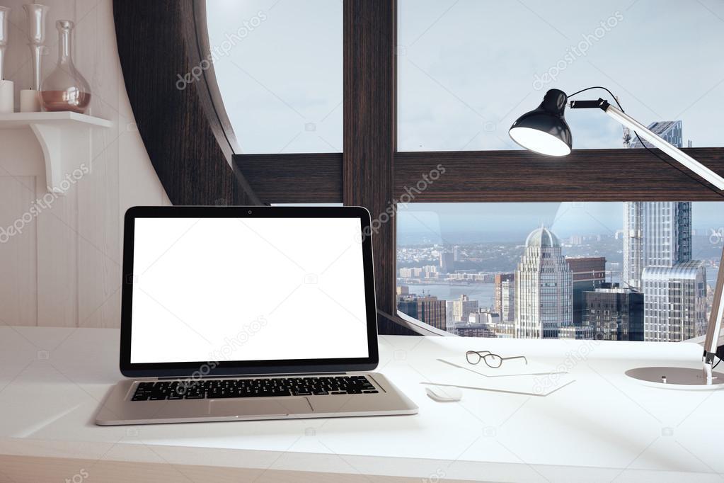 Bureau avec rangement moderne bureau arrondi lepolyglotte