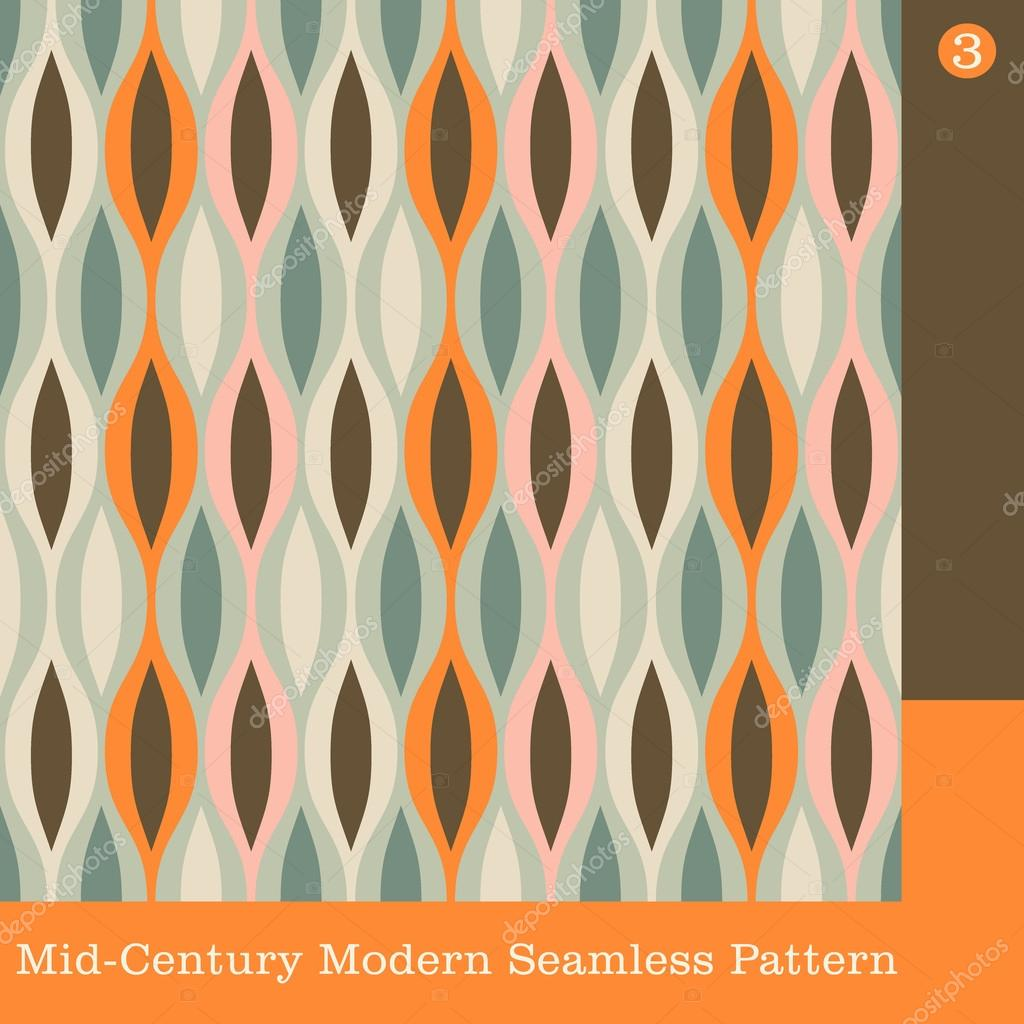 Seamless Retro Mid Century Modern Vector Pattern Stock