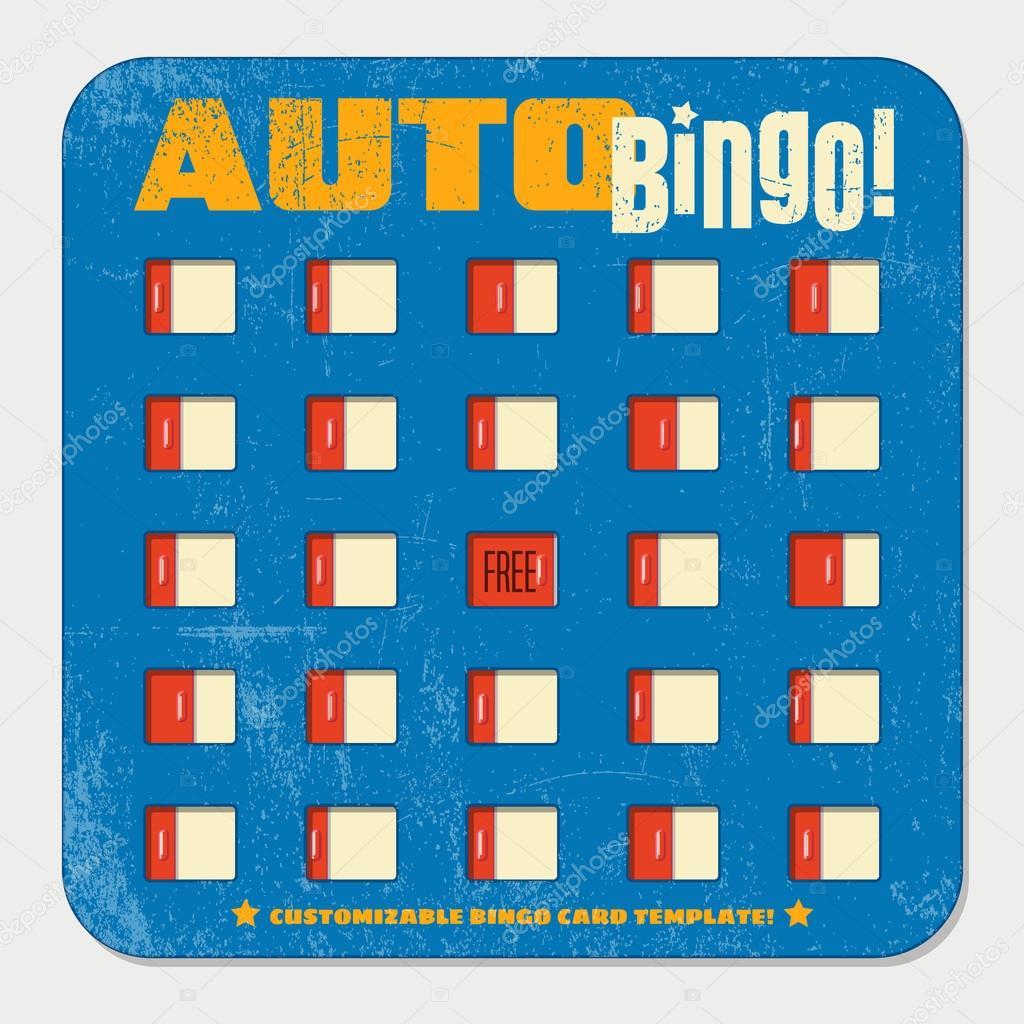 plantilla de tarjeta de bingo retro con ventanas corredizas. diseño ...