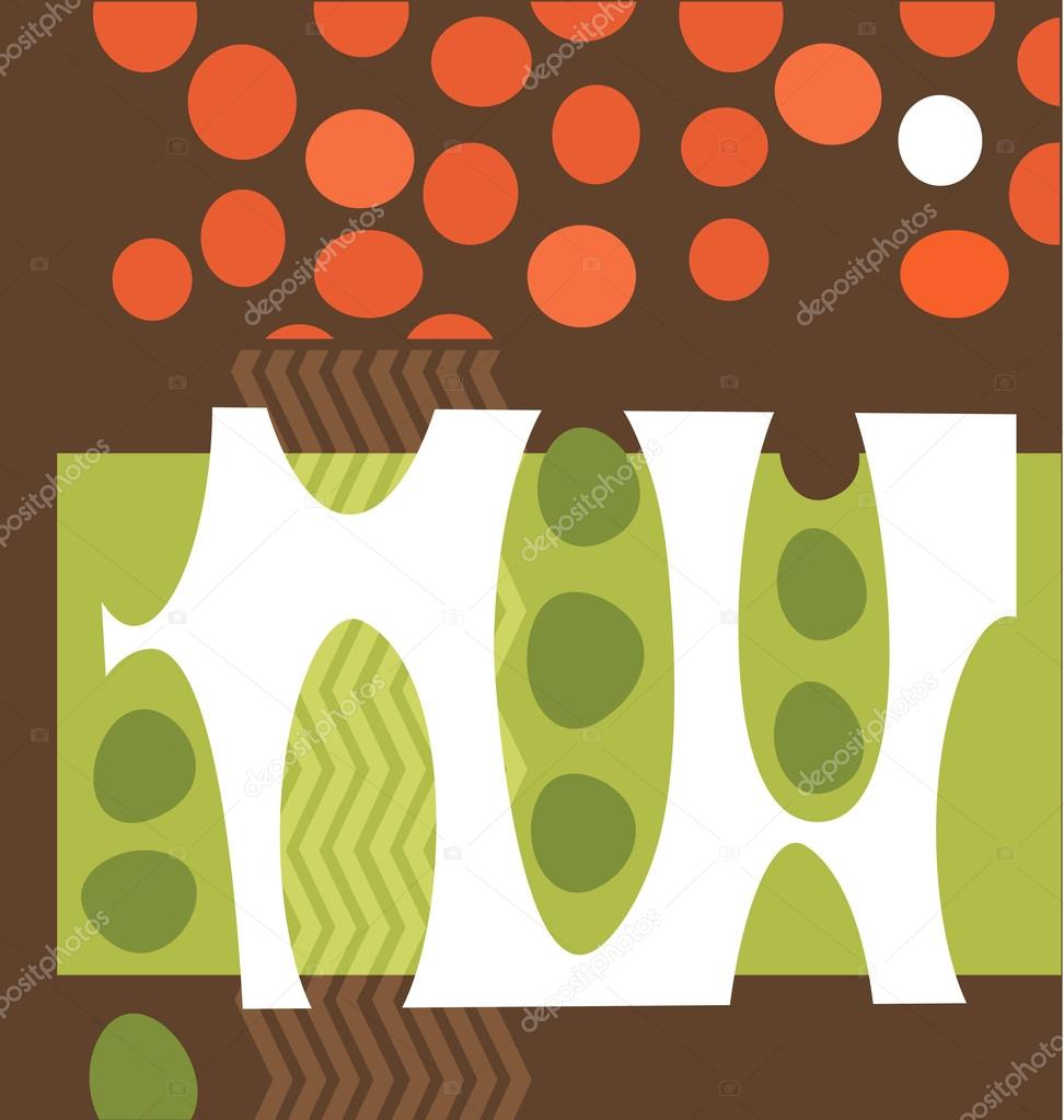 Abstract vegetable garden collage illustration