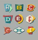 Fotografie Retro znaky abecedy. Písmena na vintage stylu značky