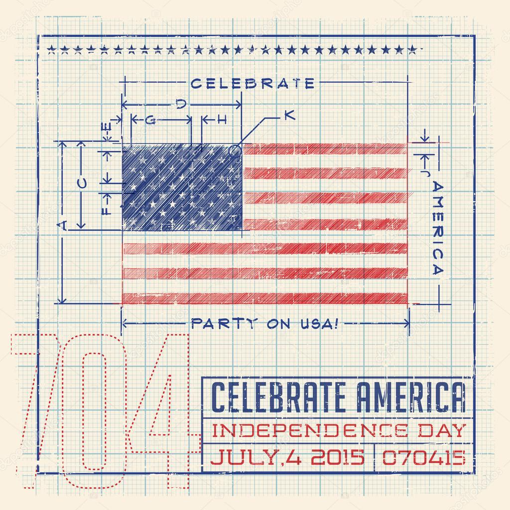 4th of july flag united states flag design as a diagram blueprint 4th of july flag united states flag design as a diagram blueprint or infographic malvernweather Gallery