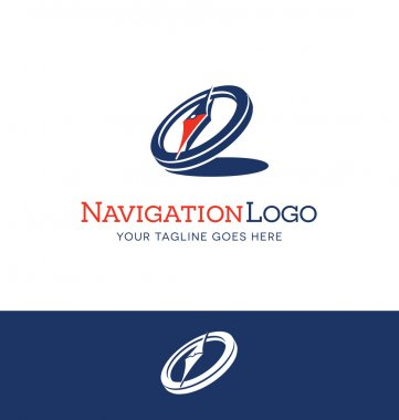 stylized compass logo concept for a business or website