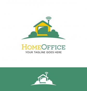 logo for work from home business or telecommuting
