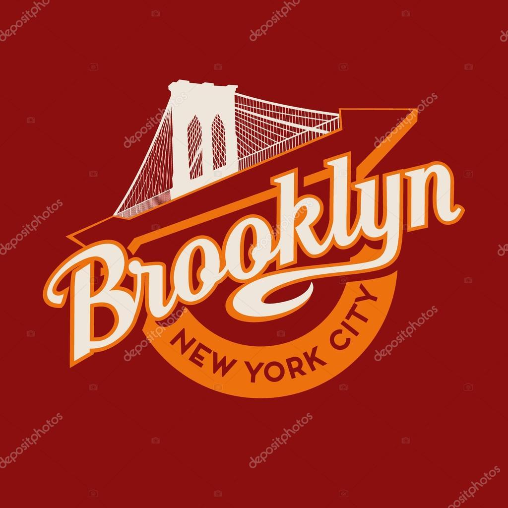 Brooklyn new york city retro vintage typography t shirt for T shirt printing brooklyn