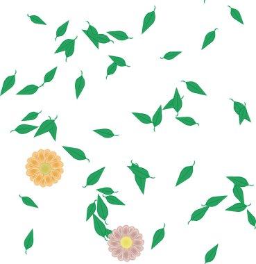 summer flowers background, vector illustration