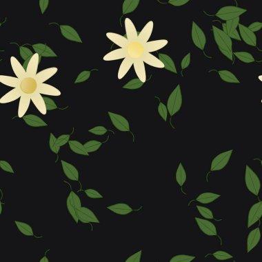 flowers bloom wallpaper, vector illustration, beautiful botanical background