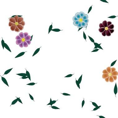 """Картина, постер, плакат, фотообои """"абстрактные цветы с бесшовным рисунком из зеленых листьев, векторная иллюстрация розы модульные природа минимализм"""", артикул 427687538"""