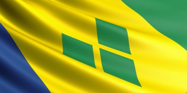 Saint Vincent and the Grenadines flag.