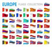 Európai zászlók - vektor-illusztráció