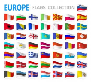 European flags - vector illustration