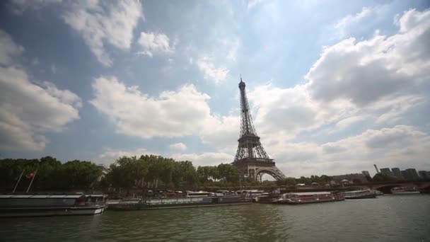 View of Eifel tower and the river Seine