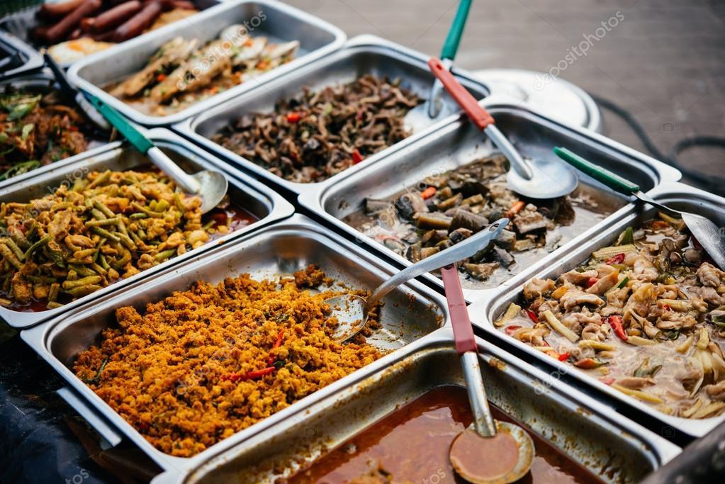 Different thai street food