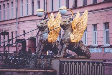 Bank Bridge in St Petersburg