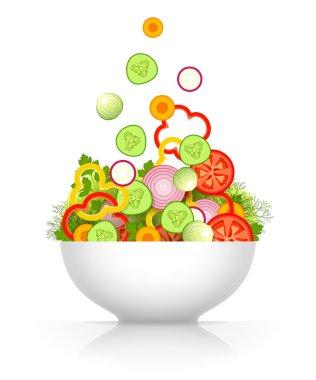 Vegetable mix for salad