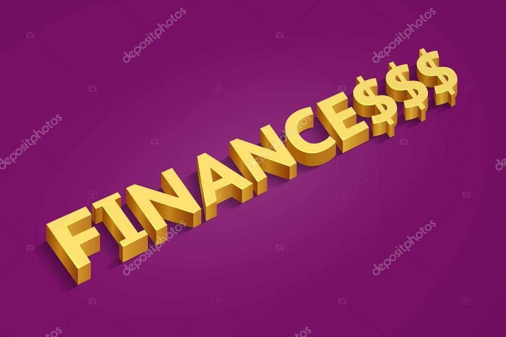 Golden Word Finances And Dollar Signs Stock Vector Vaselena