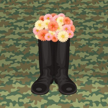 Festive soldier's boots