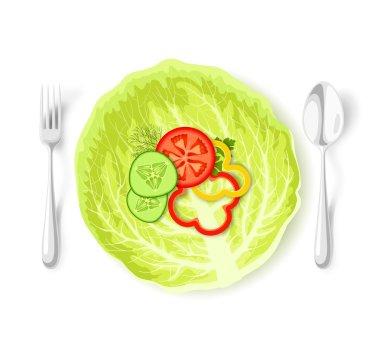 Healthy vegetable food