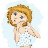 Dívka se vytlačovaly pupínek