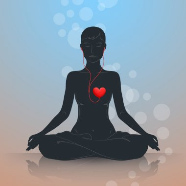 Listen to your heart. Lotus position