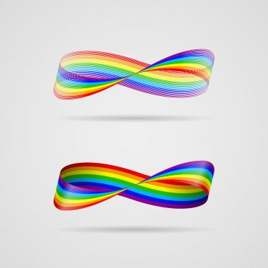 Infinite ribbon-rainbow