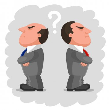 Two disgruntled men