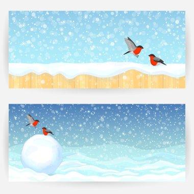 Winter festive backgrounds