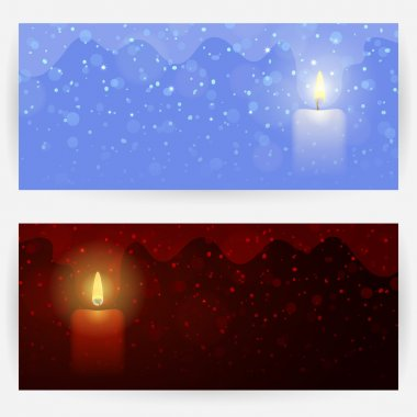 Festive backgrounds with candle light