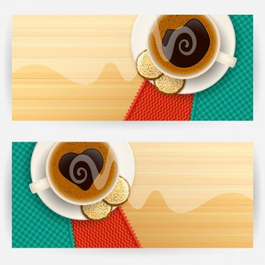 Backgrounds with coffee cups
