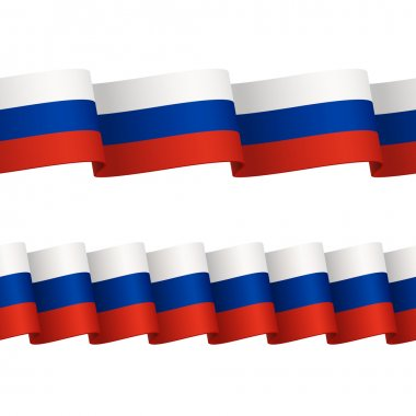 Seamless ribbons with tricolor