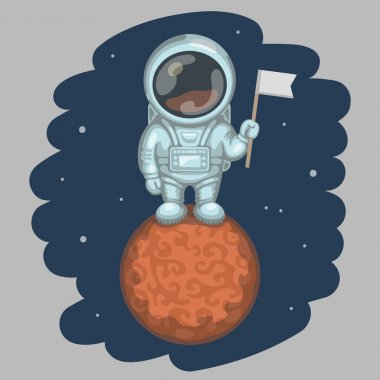Astronaut on red planet