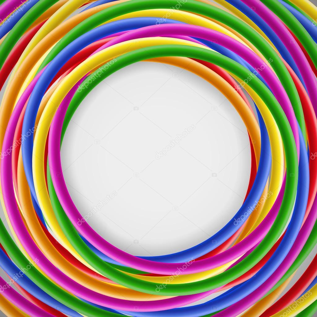Hintergrund mit farbigen Kunststoff Drähte — Stockvektor © vaselena ...