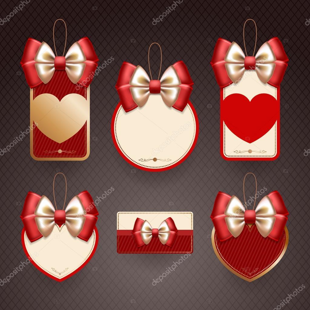 Conjunto de elementos decorativos para el d a de san for Conjunto de espejos decorativos
