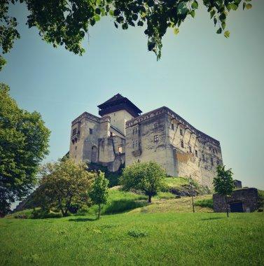 Trencin Castle, Europe-Slovak Republic. Beautiful old architecture.