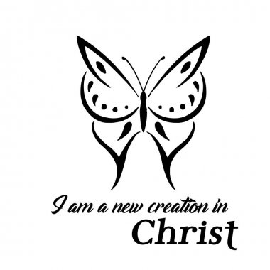 Christian quote on hope - I am a new creation in Christ