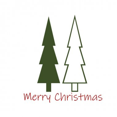 Merry Christmas text design with Christmas Tree icon