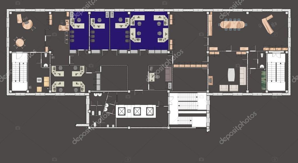 Immeuble de bureaux de plan u photographie andaleks